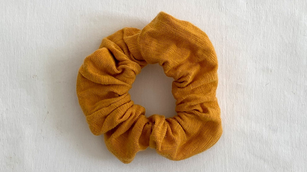 MUSTARD Cotton Scrunchie