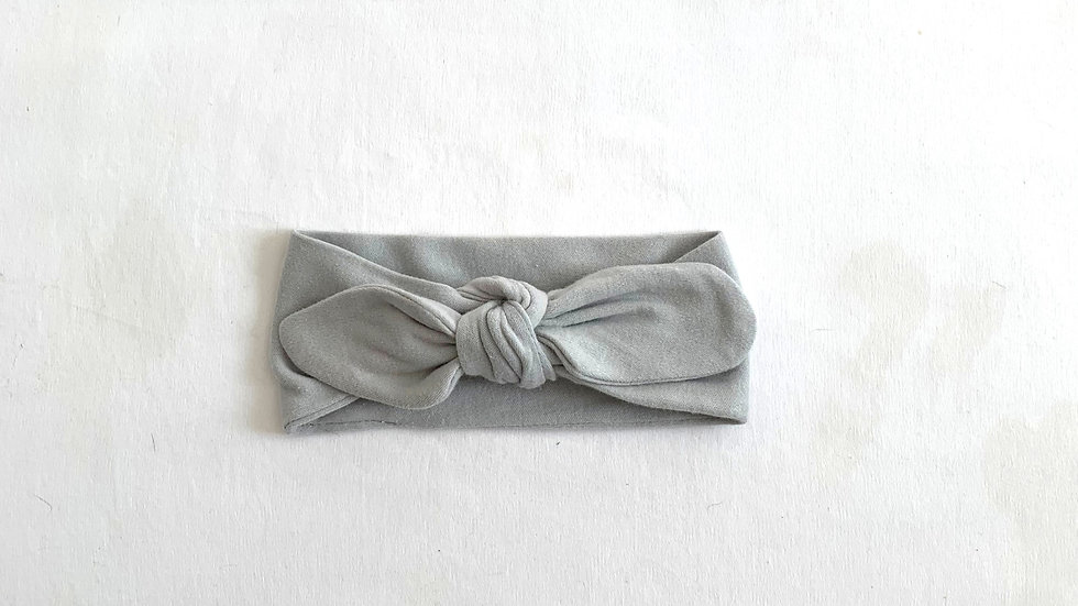 GREY Cotton Stretch Topknot