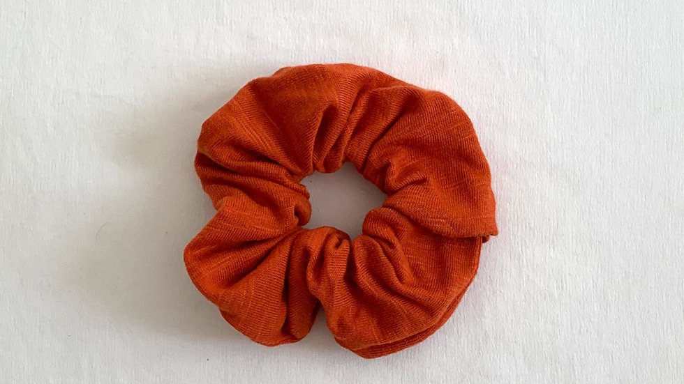 ORANGE Cotton Scrunchie