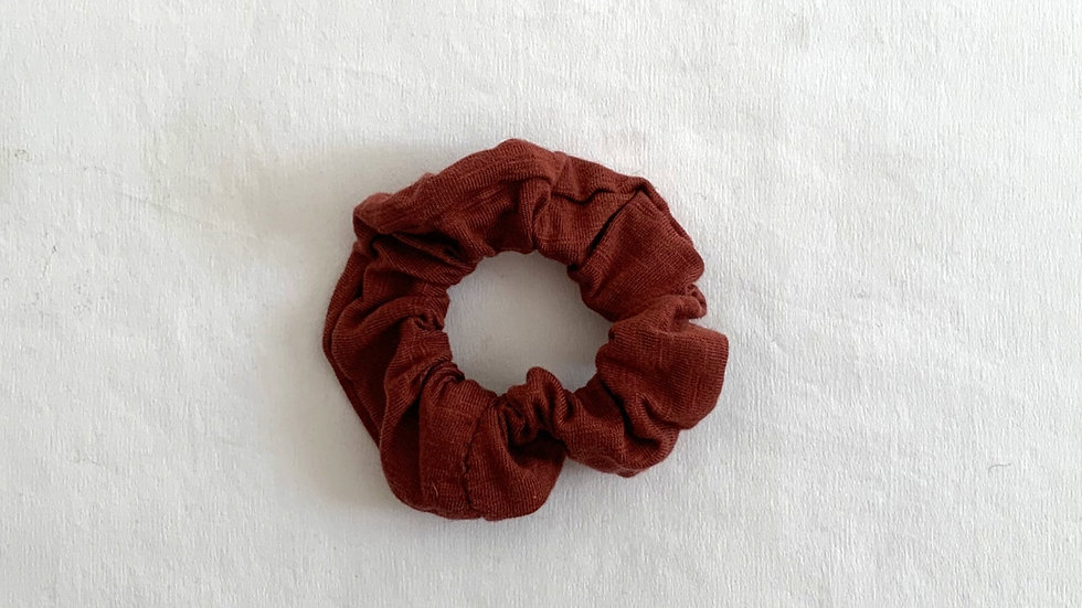 MAROON Cotton Scrunchie