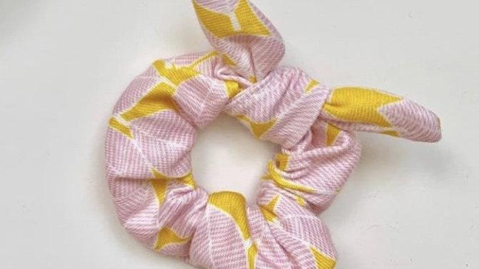 PINK geometric stretch scrunchie