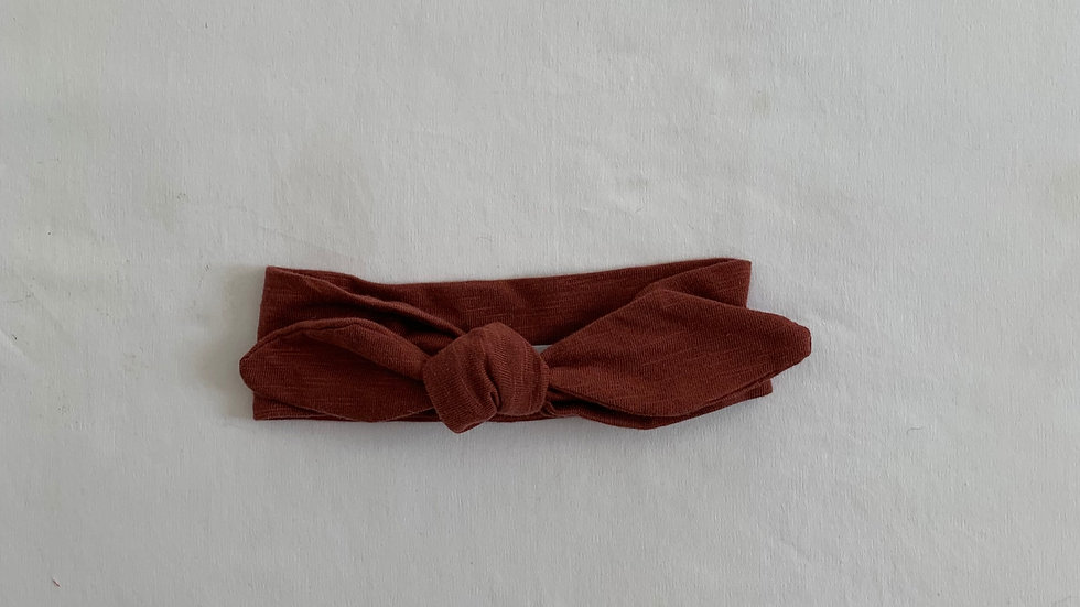 MAROON Cotton Topknot