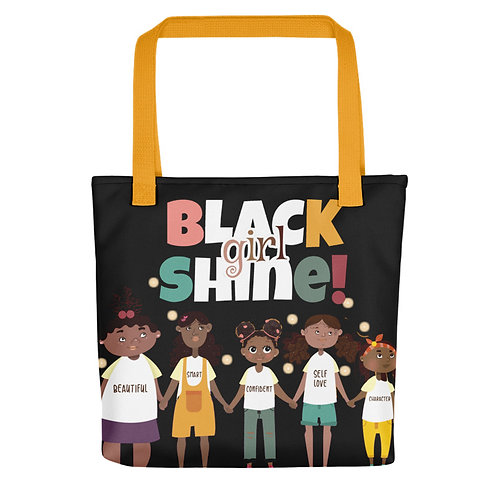 Black Girl Shine Tote Bag