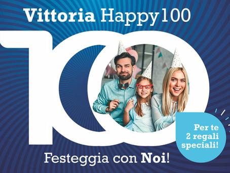 Festeggia insieme a noi i 100 anni di Vittoria Assicurazioni con 2 regali speciali!