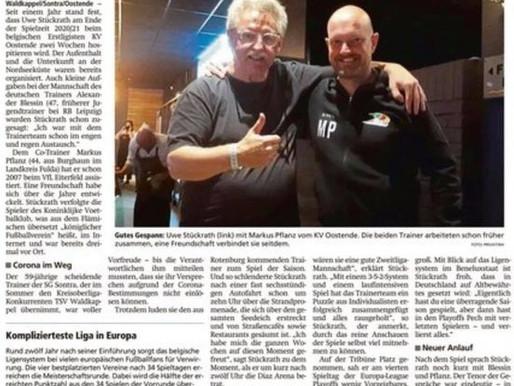 # Vorbereitung ist alles, TSV-Trainer Uwe Stückrath zu Gast in Belgien
