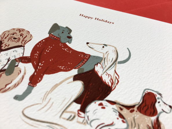 SWEATER DOGS HOLIDAY CARD
