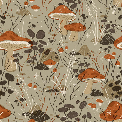 FOREST FLOOR REPEATING PATTERN