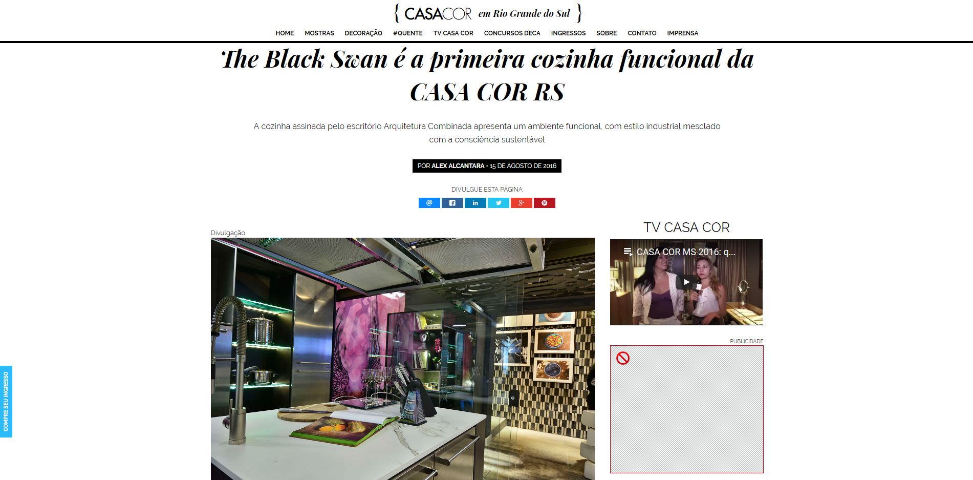 SIte CASA COR_ THE BLACK SWAN