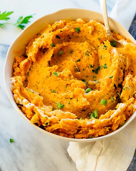 mashed-sweet-potatoes-with-herbs-and-sou