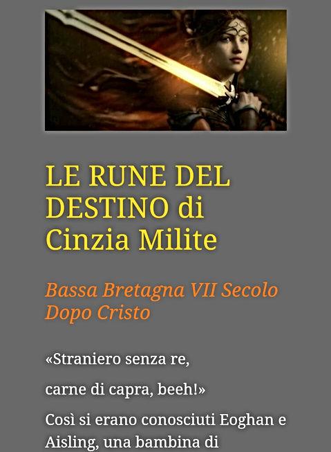 Le rune del destino di Cinzia Milite
