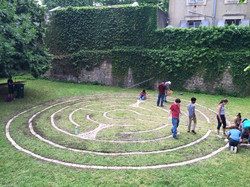Lyon, France Labyrinth Build 2015