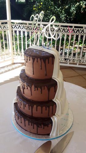 Chocolate and Vanilla Wedding Cake.jpg