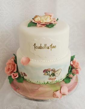 Vintage Fairies Babyshower Cake with Han