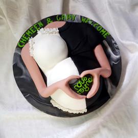 Mama & Papa Bump Babyshower Cake.jpg