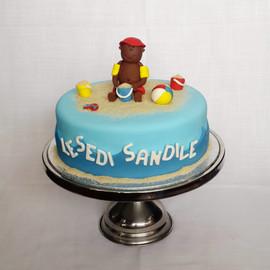 Little Boy's Beach Party Birthday Cake.j