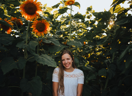 Walking on Sunshine : Olivia's Sunflower Session