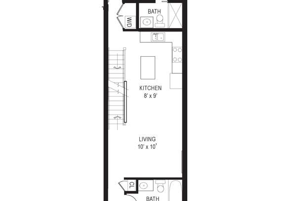 711 15th Street NE unit 4 floor plans
