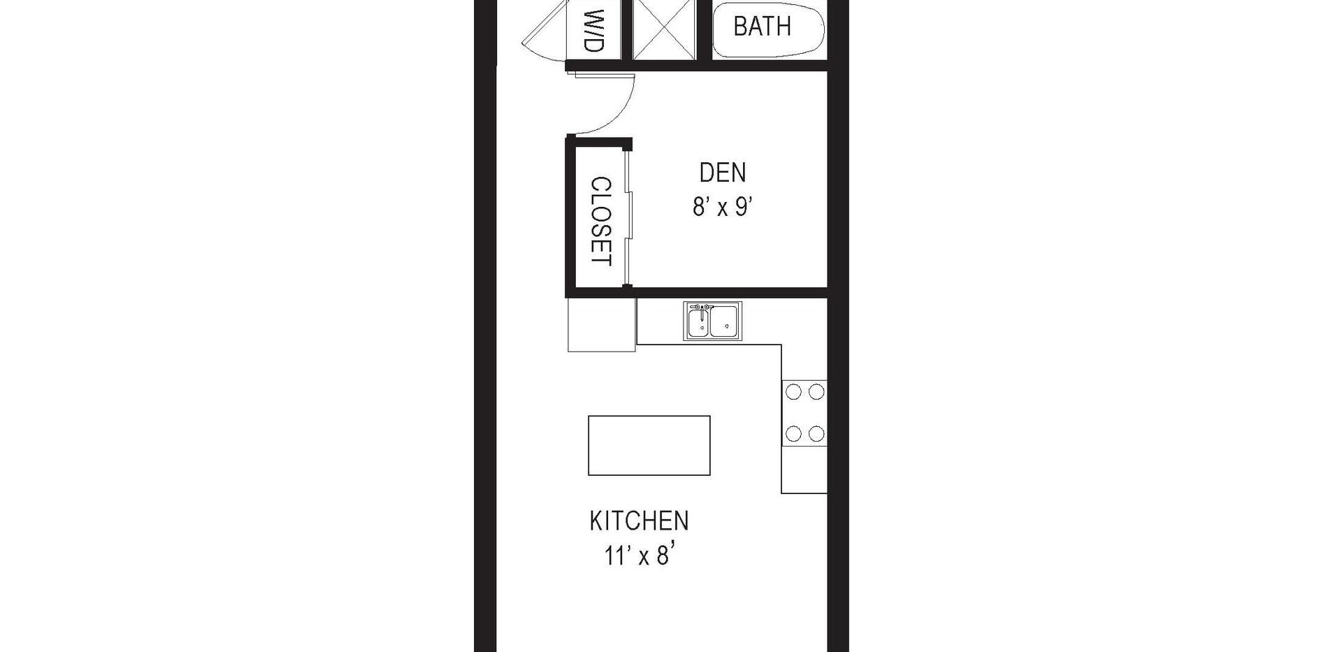 711 15th Street NE unit 1 floor plan
