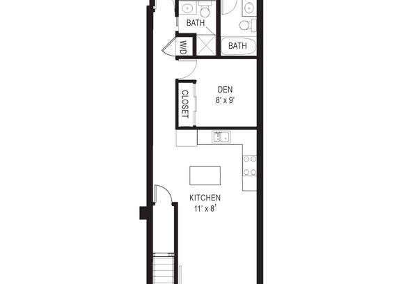 711 15th Street NE unit 2 floor plan