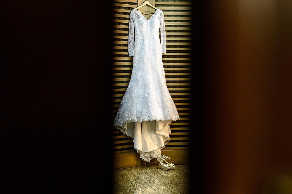 vestido de noiva, sapato de noiva