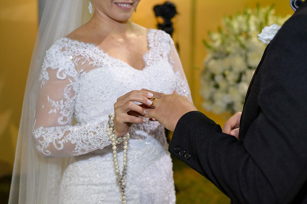 cerimônia, casamento, telene e fernando