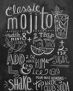 Меловая доска для кафе, бара, ресто