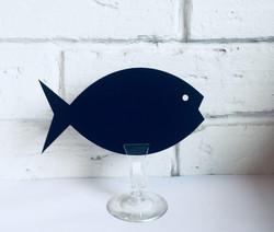 Меловой ценник в форме Рыбы