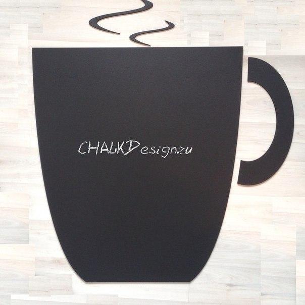 Меловая доска чаша для кафе