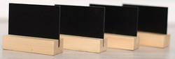 меловой ценник на деревянной подставке а7