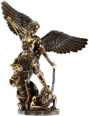 Archangel Michael Statue in Bronze