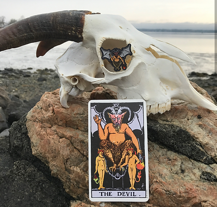 Devil Tarot Card Enamel Pin