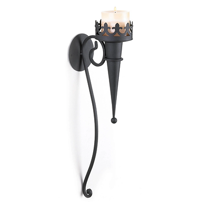 Iron Candle Wall Sconce
