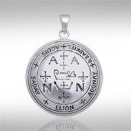 Archangel Zadkiel Sigil Pendant in Sterling Silver