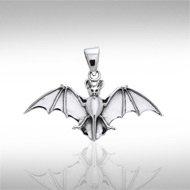Bat Pendant in Sterling Silver
