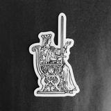 Vinyl Sticker - Queen of Swords Tarot Card