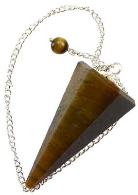 Faceted Tiger's Eye Pendulum