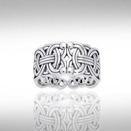 Borre Knot Ring in Sterling Silver