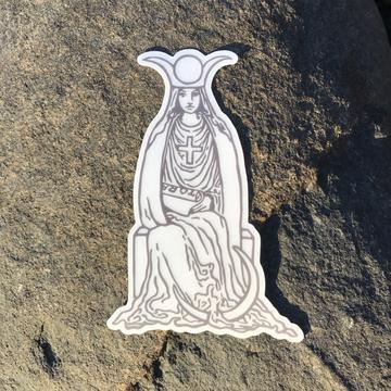 Vinyl Sticker - The High Priestess Tarot Card