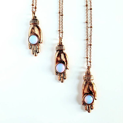 Opalite Hand of Fortune Necklace