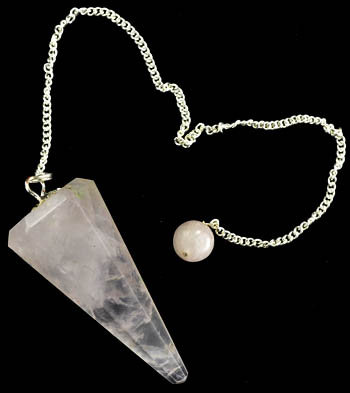 Faceted Rose Quartz Pendulum