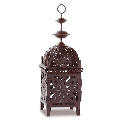 Patina Copper Morrocan-Style Lantern