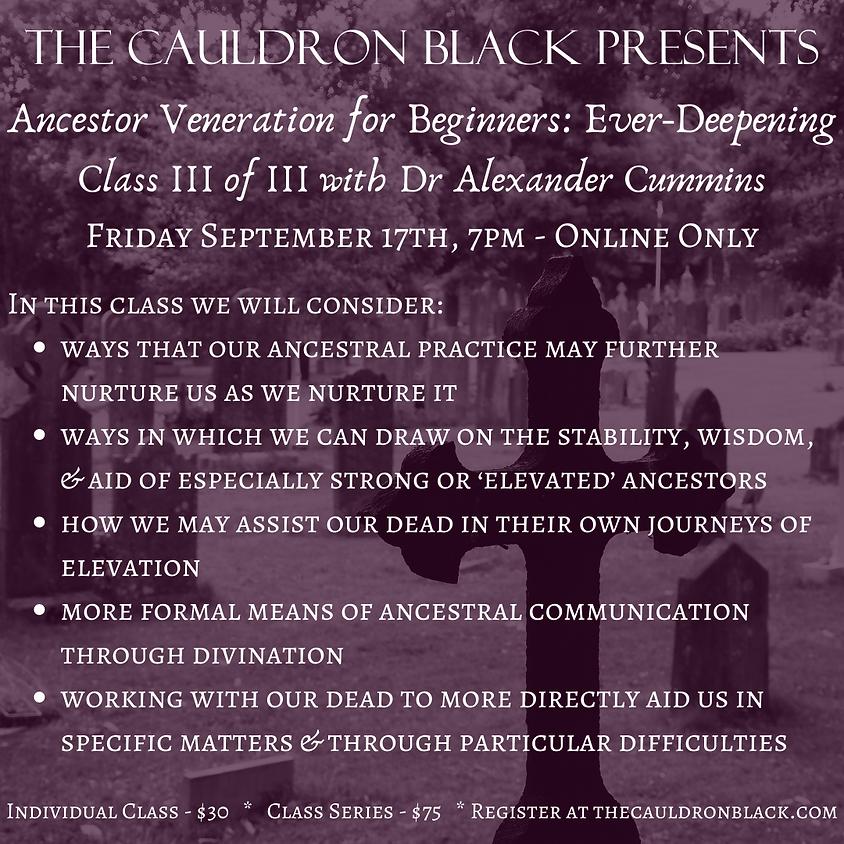 Ancestor Veneration for Beginners: Ever-Deepening, Class III of III with Dr Alexander Cummins (3)