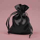 Black Satin Mojo Bag