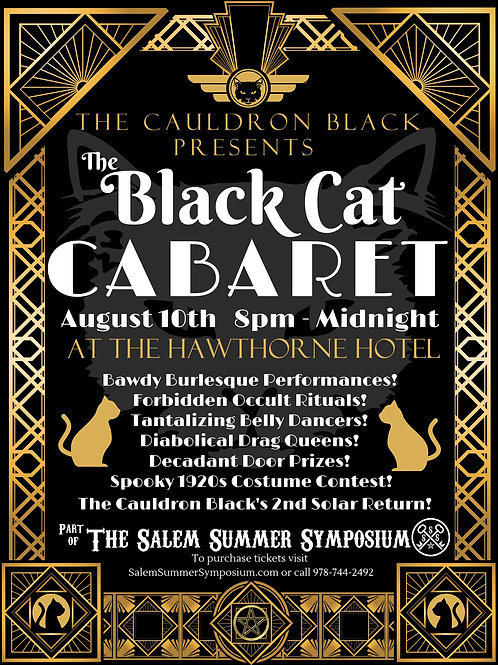 The Black Cat Cabaret - Platinum Level, Saturday August 10th 8pm