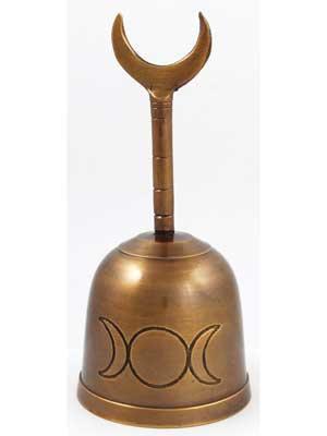 """5"""" Brass Moon Altar Bell"""