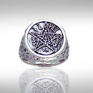 Tetragrammaton Ring in Sterling Silver