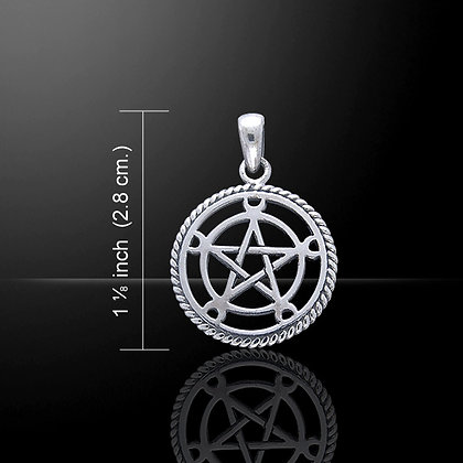 Sterling Silver Pentacle of the Moon