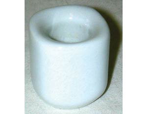 White Chime Candle Holders