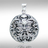 Greenman Pendant in Sterling Silver