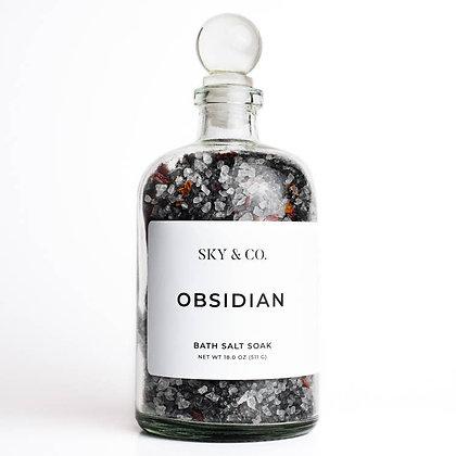 Obsidian Bath Salt Soak - 18oz.